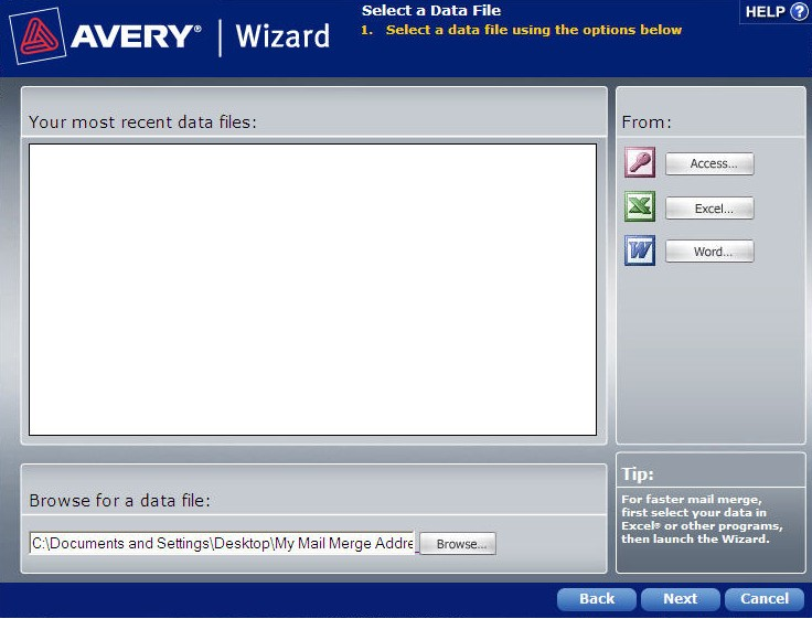 How to mail merge using avery wizard software for for Avery templates and software