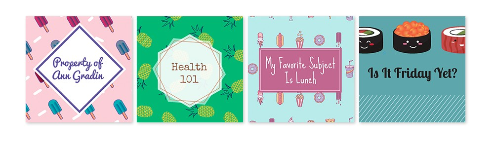 Sprinkle these mouthwatering designs to give school supplies extra flavor.