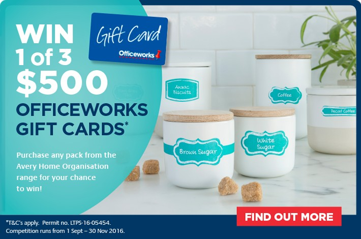 Win 1 of 3 $500 officework gift vouchers - Home organisation labels