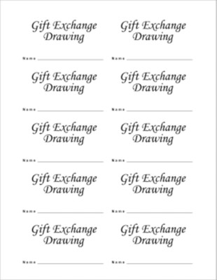 Gift Exchange Business Card, 10 per sheet Reviews (1 review) Buy Now