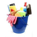 organised cleaning bucket