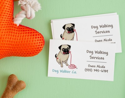 Boost Your Dog Walking Business With Business Cards