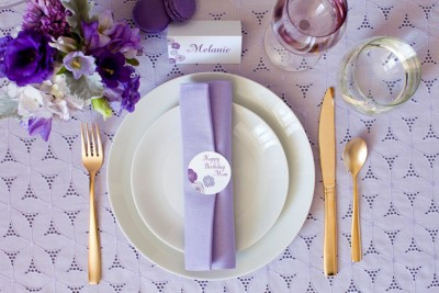 Add a Touch of Elegance with Purple Rose Labels