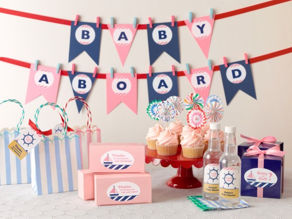 Nautical Gender Reveal Baby Shower
