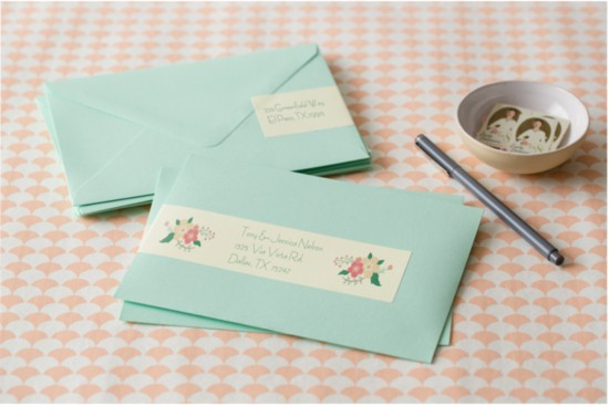 Create custom address labels for your wedding stationery for Wedding mailing labels templates