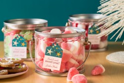 Repackage your company products with a holiday theme to create a gift that's just right for the occasion.