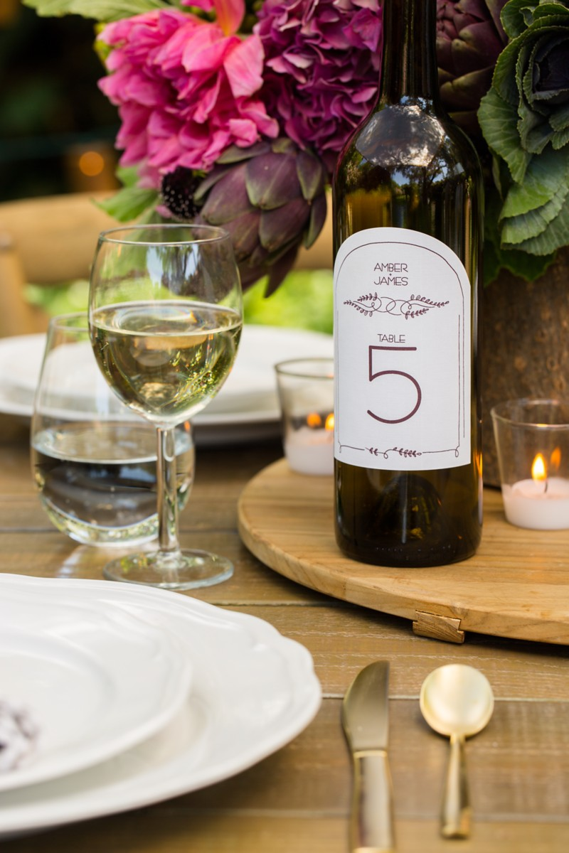 Rustic Wedding Wine Bottle Table Number