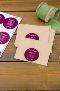 Invitations with Round Seals
