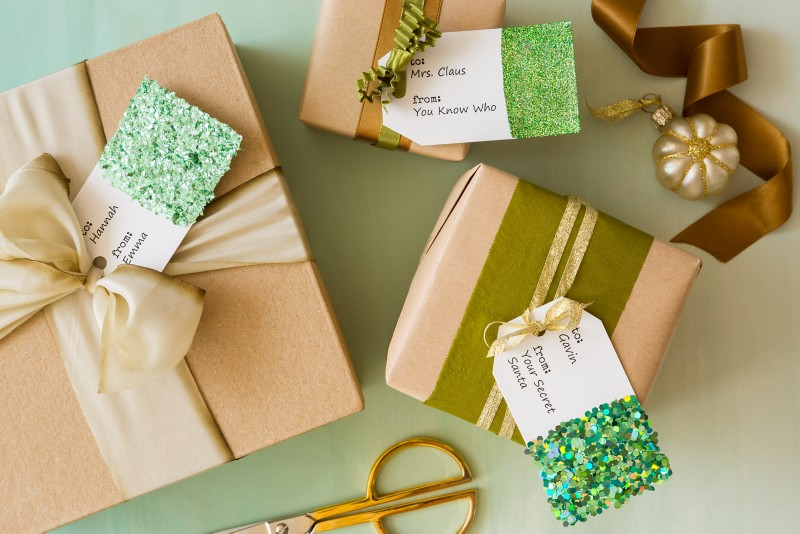Gift Tags with Glitter