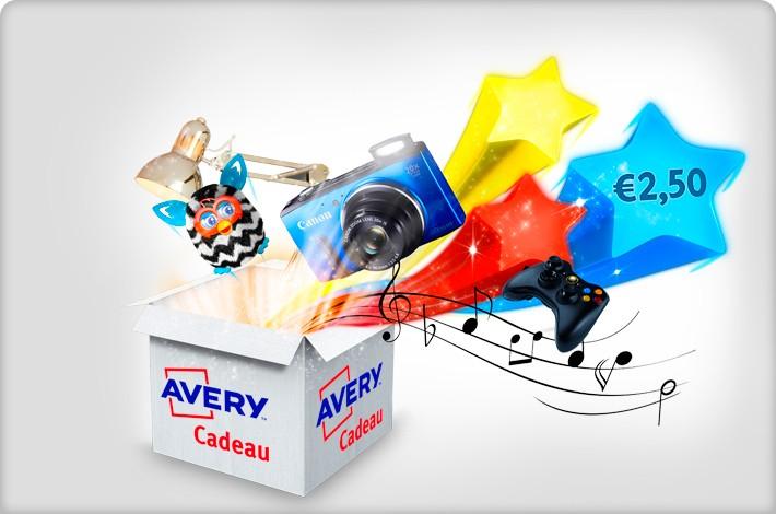Koop een Avery product en kies direct een kado!