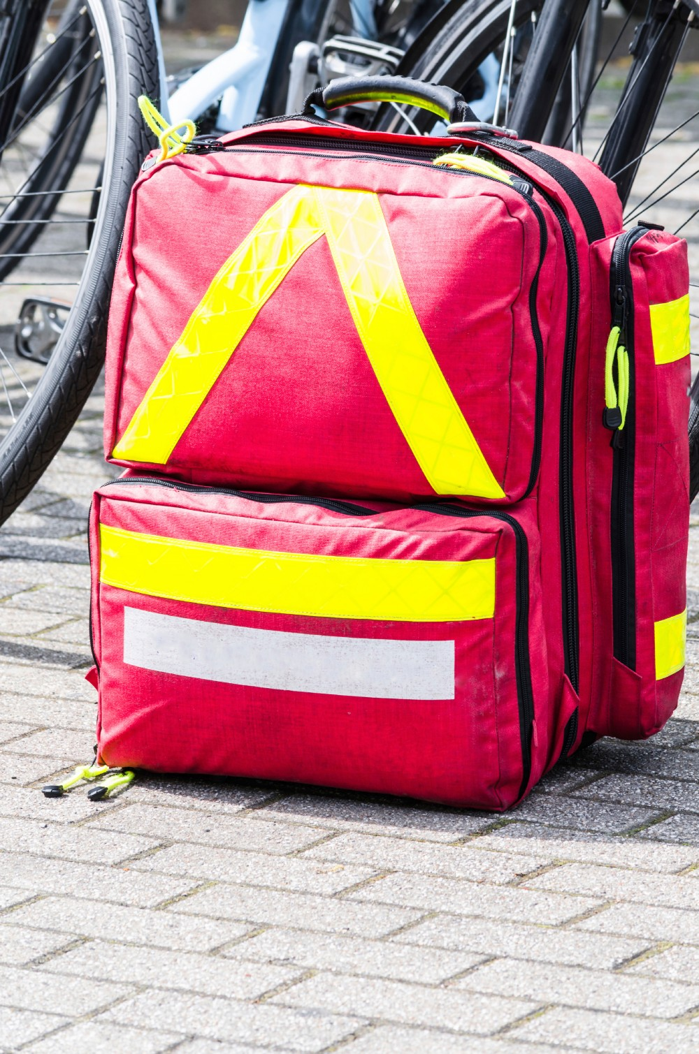 Store your emergency kit items in a bin for the home or office. When you're on the road or outdoors and want a more portable option, a backpack is a convenient solution.