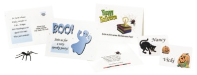 Create Halloween Party Invitations and Name Tags