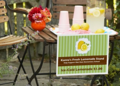 Spotlight Your Lemonade Stand with Signage