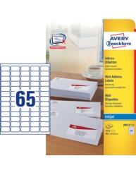 White Mini Inkjet Labels