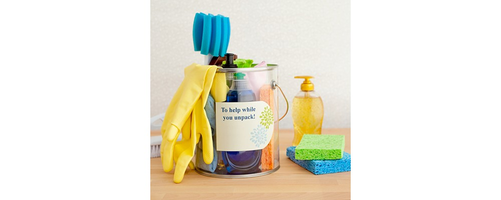 Make sure you have quick access to your cleaning supplies.