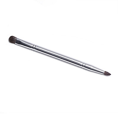 Double-Ended Precision Eye Brush with Silver Handle