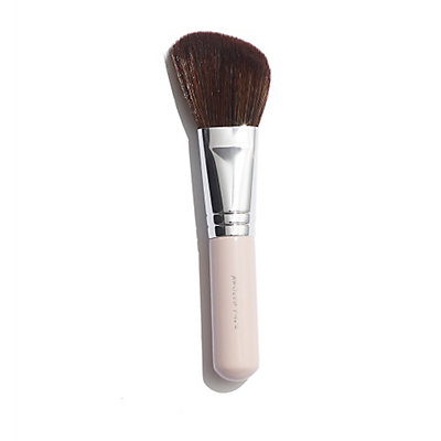 Angled Face Brush with Soft Pink Handle