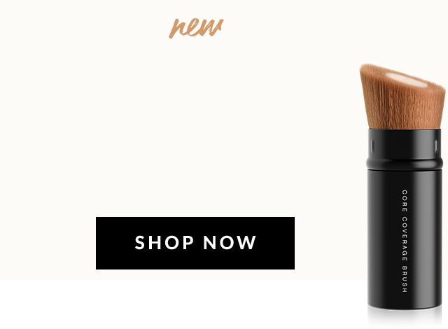 Core Coverage Makeup Brush. Retractable foundation brush. Travel-friendly.