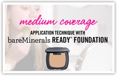 bareMinerals READY SPF 20 Foundation - Medium Coverage Application