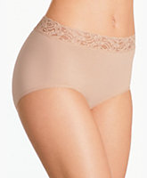 Cotton Suede With Lace Full Brief