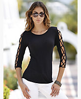 Lattice Sleeve Top