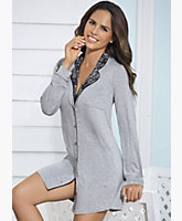 Collar Lace Nightshirt