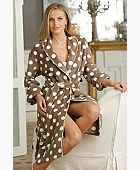 Dotty Fleece Robe