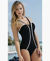 V-Trim One Piece Suit-BELOW WHOLESALE!