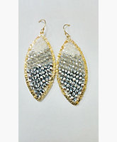 Gold Plated Ombre Marquee Earrings