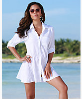 A-Line Cotton Boyfriend Shirt