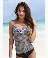 Tribal Tankini Top by Kenneth Cole