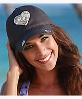 Crystal Heart Baseball Cap