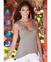 Split Neck Sleeveless Tank