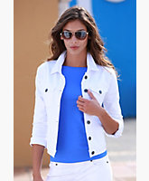 Andie White Stretch Denim Jacket