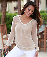 Mesh Peasant Top by Tommy Bahama