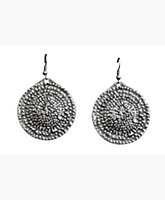 Hammered Pewter Earrings