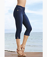 Jessie Stretch Denim Capri