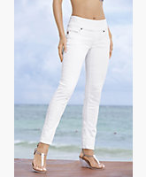 Anna White Stretch Denim Pull On