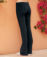 Stretch Cotton Lycra Foldover Yoga Pant