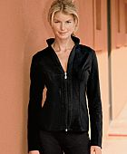 Stretch Cotton Lycra Zip Front Warm Up Jacket