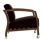 Malena Armchair with Walnut Frame in Velvet