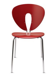 Globus Chair in Wood with Chrome Frame