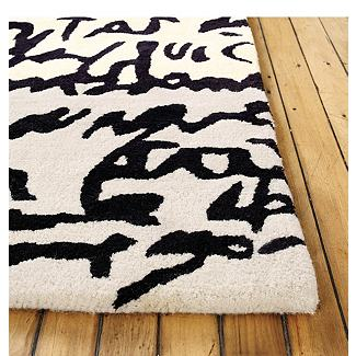 Manuscrit Rug - Design Within Reach :  home accessory home accessories black and white rug black and white