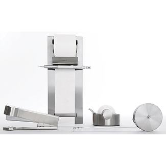 Stainless Desk Set>                       - Design Within Reach :  desk steel apartment house