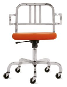 Nine-0 Swivel Armchair - 3 Bar Back