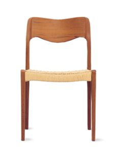 Molley Model 71 Side Chair with Natural Woven Seat