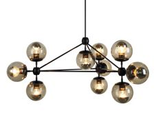 Modo Chandelier, 3 Sided, 10 Globes