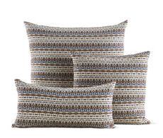 Girard Pillows in Arabesque, Metallic Brown