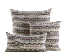 Girard Pillows in Arabesque, Metallic Brown