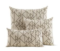 Girard Pillows in One Way, Cream